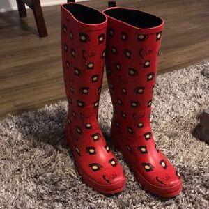Anthropologie Colloquial Hello Rain boots